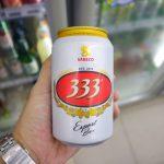 ベトナムのビール「333(バーバーバー)」