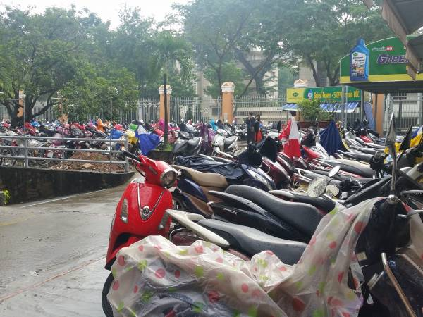 バイクの駐輪場