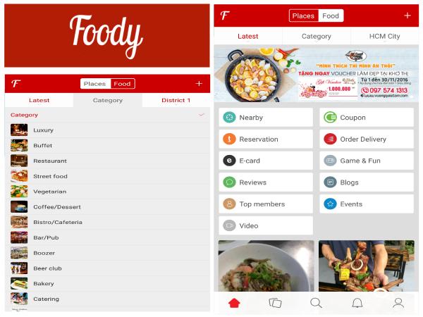 Foodyインターフェイス