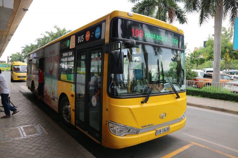 ホーチミンの空港から出ているシャトルバス「109番バス」